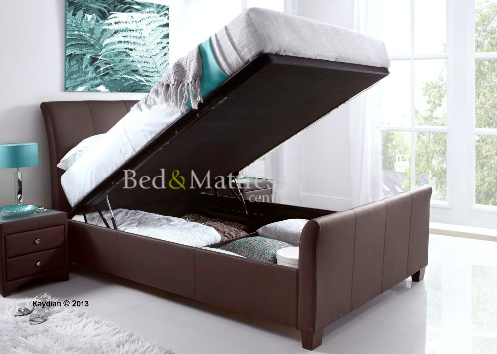 Kaydian Uk Super King Allendale Ottoman In Brown Bed Frame