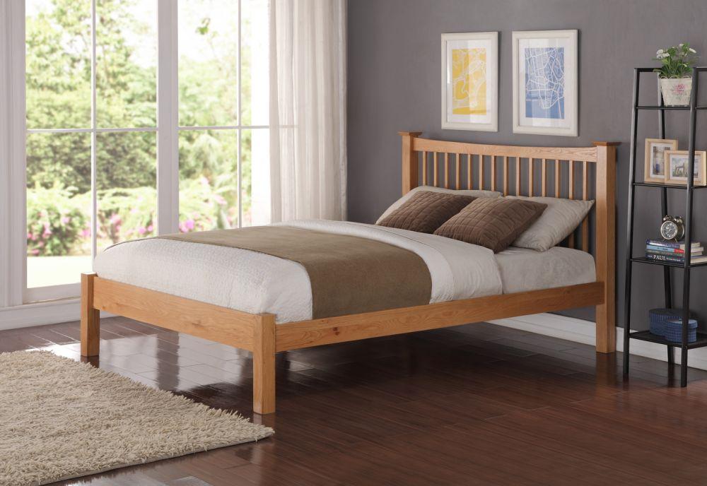 aston solid oak bed frame aston solid oak
