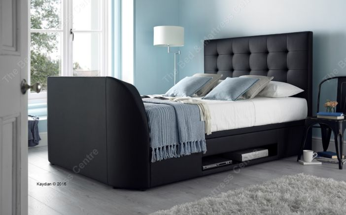 Barnard TV Ottoman Bed in black Bed