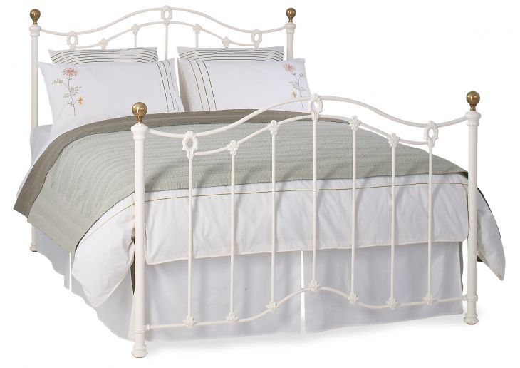 UK Super King Clarina in Ivory by Original Bedstead Company
