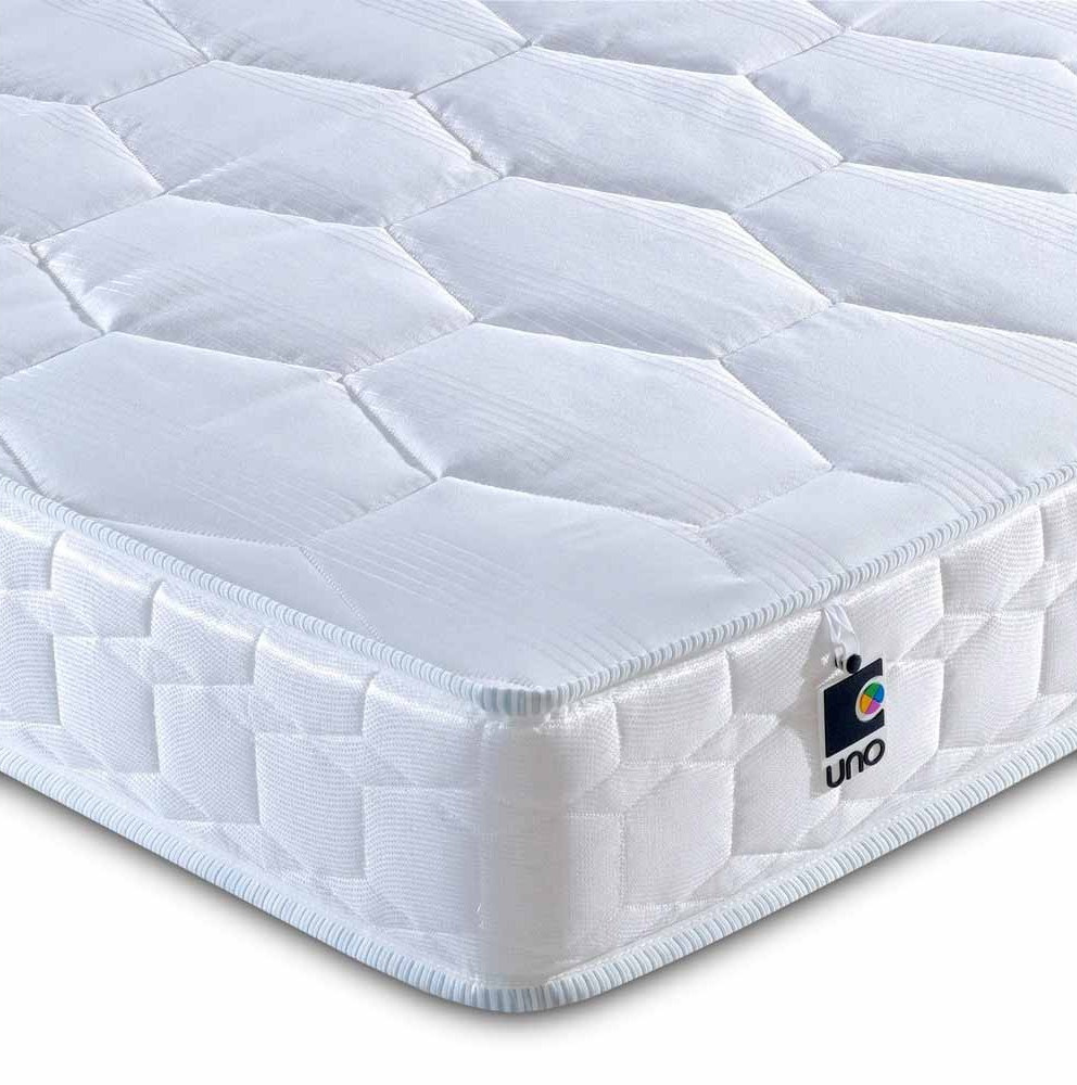 Breasley uno deluxe firm 3ft single mattress bed for Single mattress