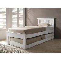 Halkyn White Guest Bed at the Bed and Mattress Centre