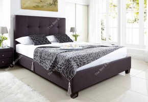Walkworth in slate fabric at the Bed and Mattress Centre