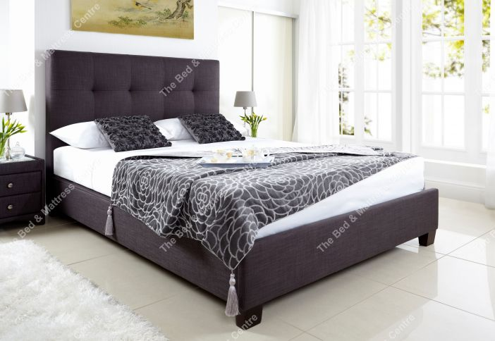 Walkworth in slate fabric Bed