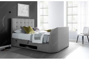 Barnard TV Ottoman Bed in Artemis Grey at the Bed and Mattress Centre