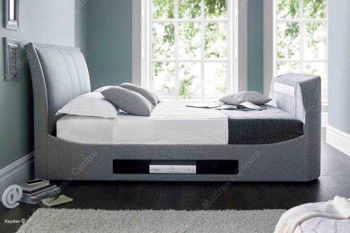 Maximus TV Multimedia bed in grey Bed