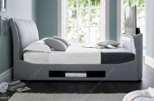 UK King Maximus TV Multimedia bed in grey by Kaydian
