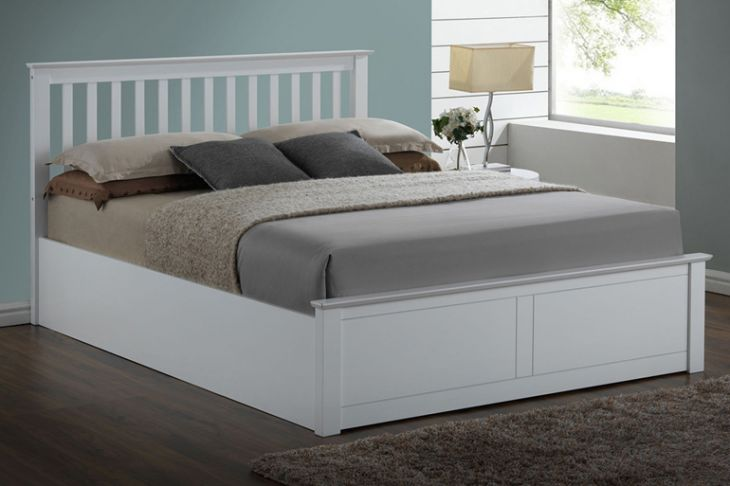 Pentre Ottoman in White 4ft6 Double by Flintshire Furniture