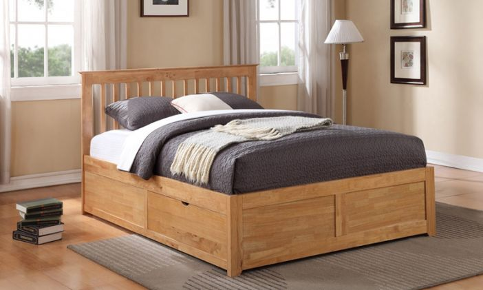Pentre Fixed Drawers Bed