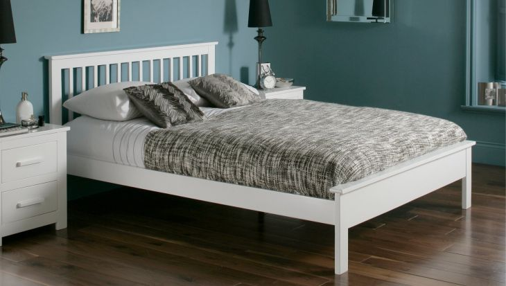 Pentre white 4ft Small double by Flintshire Furniture