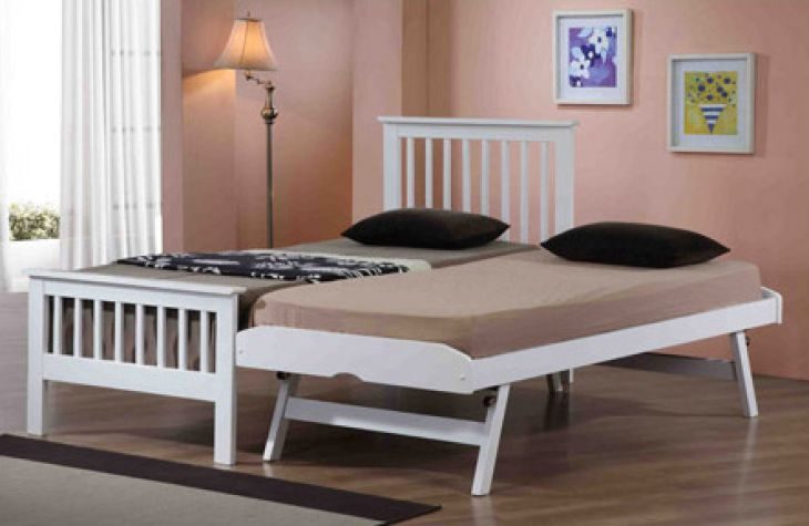 Pentre white guest bed 3ft Single by Flintshire Furniture