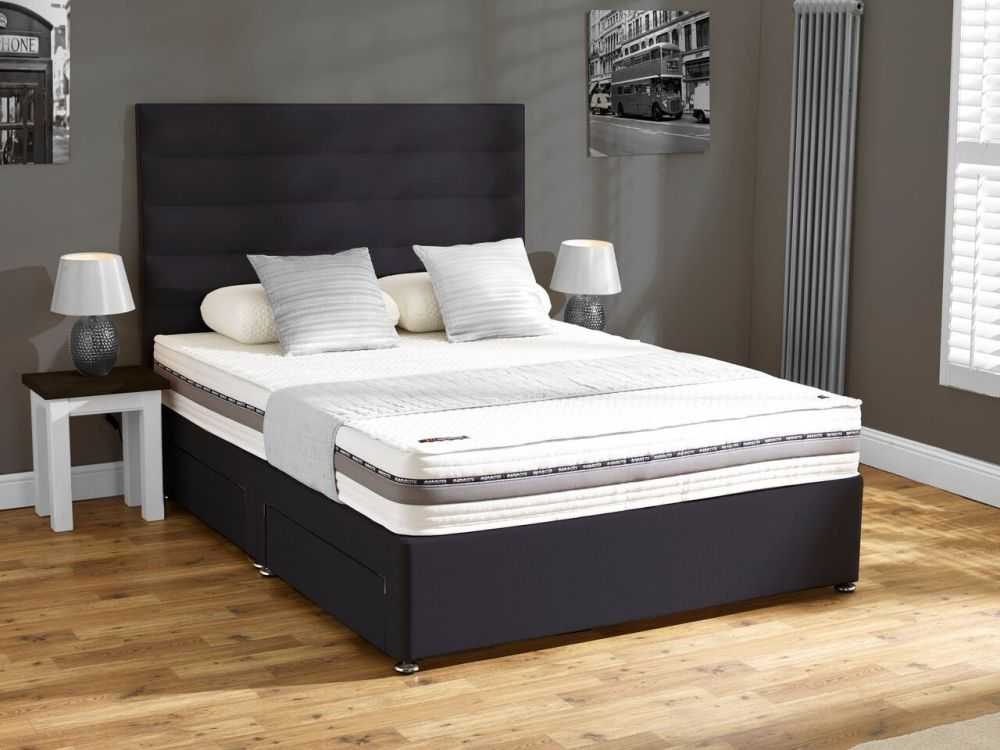 Mammoth performance 240 medium 5ft king size mattress for Black double divan bed
