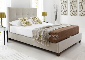 Walkworth in oatmeal fabric at the Bed and Mattress Centre
