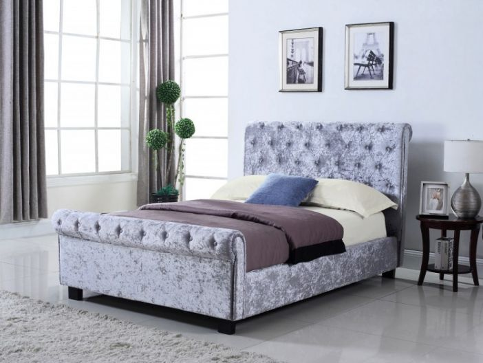 Whitford Ottoman in Silver Bed