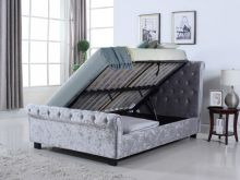 UK Double Whitford Ottoman in Silver by Flintshire Furniture